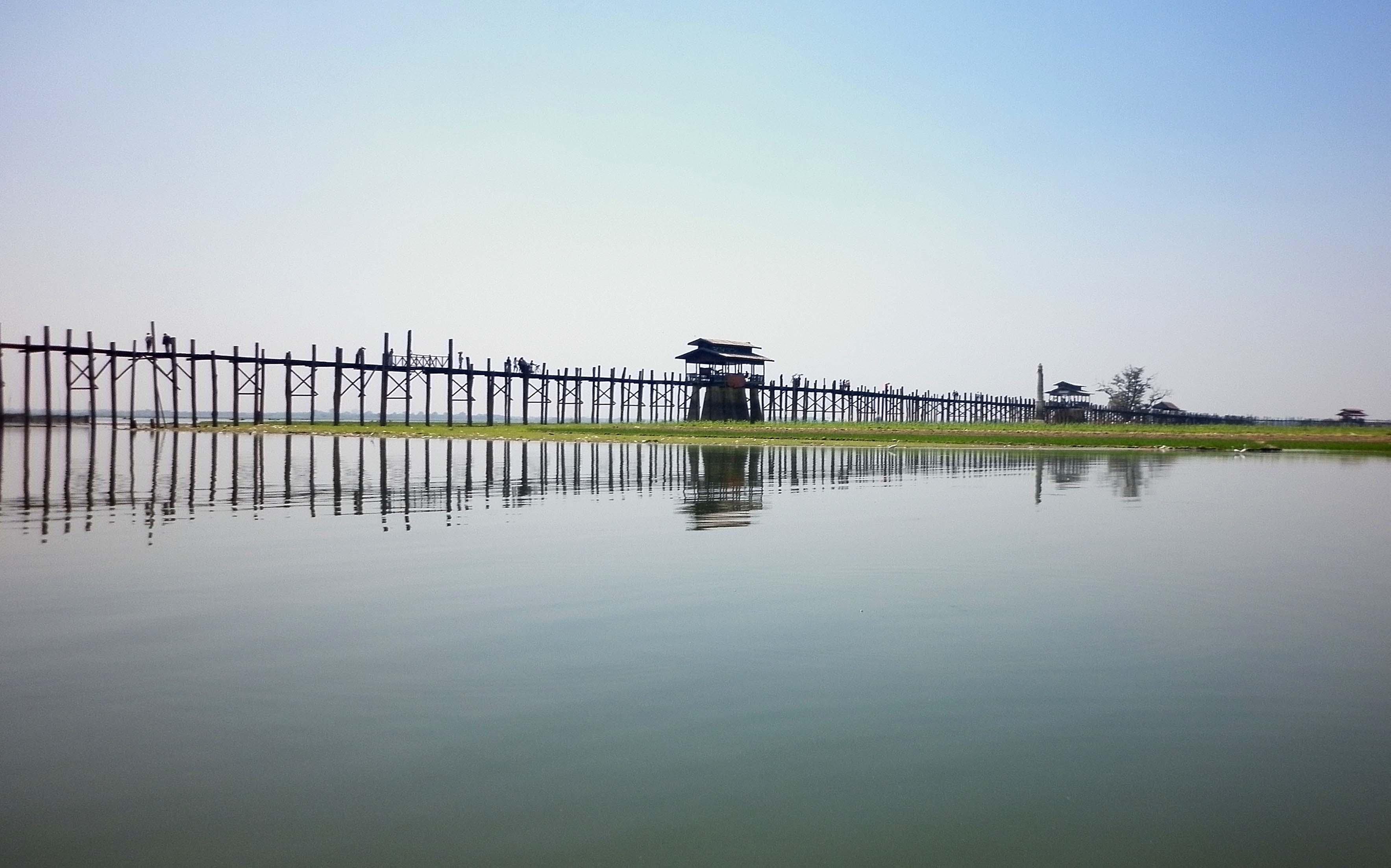 マンダレー方面・ウーベイン橋
