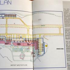 ヤンゴン空港ターミナルビルの配置