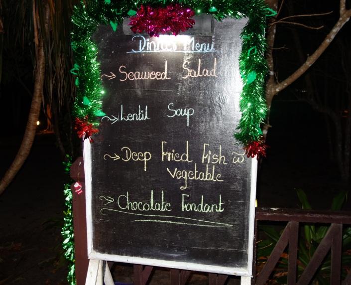 Myanmar Andaman Resort での初日の夕食20