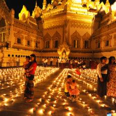 タディンジュ満月の燈明祭り