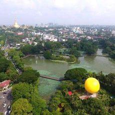 ヤンゴンで気球乗って400フイート上空からヤンゴン市の景色を見ましょう
