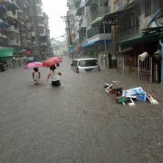 7月11日ヤンゴン豪雨