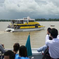 ヤンゴン河に水上バスが始まりました