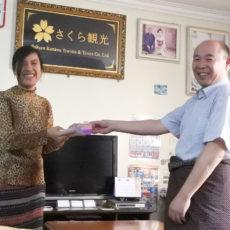 日本語検定合格者の表彰式