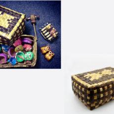 ミャンマーの伝統的なヤシ行李ご紹介