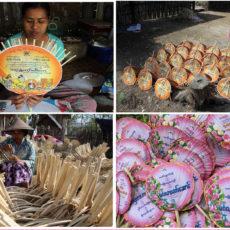 ミャンマーの伝統的な団扇のご紹介