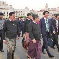 ヤンゴン市と福岡市の姉妹都市提携3周年のお祝い